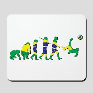 Evolution of Brazil Football Mousepad