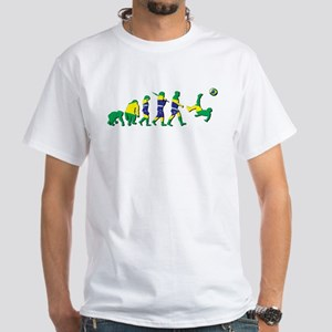 Evolution of Brazil Football White T-Shirt