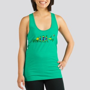 Evolution of Brazil Football Racerback Tank Top