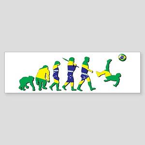 Evolution Of Brazil Football Bumper Sticker