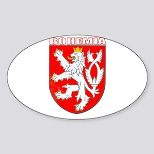 Bohemia, Czech Republic Oval Sticker