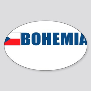 Bohemia, Czech Republic Oval Sticker