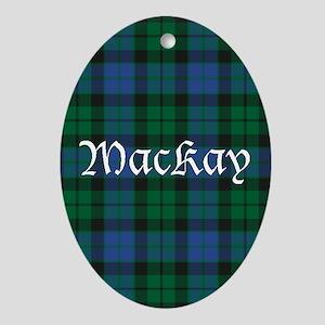 Tartan - MacKay Ornament (Oval)