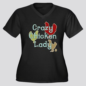 Crazy Chicken Lady Plus Size T-Shirt