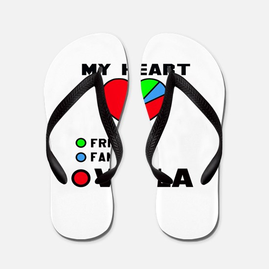 My Heart Friends Family and Viola Flip Flops