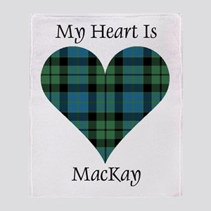 Heart - MacKay Throw Blanket