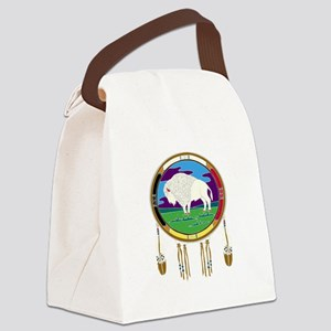 White Buffalo Canvas Lunch Bag