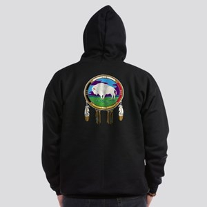 White Buffalo Zip Hoodie (dark)