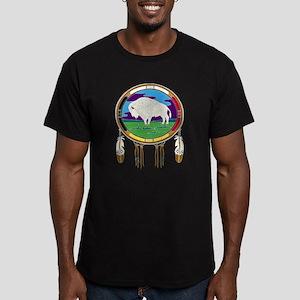 White Buffalo Men's Fitted T-Shirt (dark)