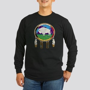 White Buffalo Long Sleeve Dark T-Shirt