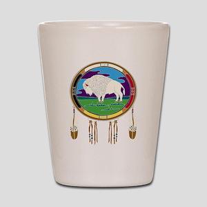 White Buffalo Shot Glass