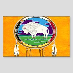 White Buffalo Sticker (Rectangle)