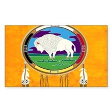 White Buffalo Sticker (Rectangle)