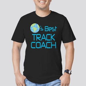 Earths Best Track Coach Men's Fitted T-Shirt (dark