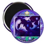 """2.25"""" Magnet (100 pack) Christmas/Peace On Earth"""