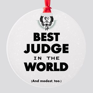 Best Judge in the World Ornament