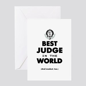 Best Judge in the World Greeting Cards