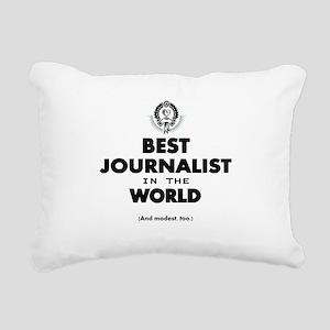 Best Journalist in the World Rectangular Canvas Pi