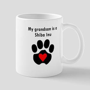 My Grandson Is A Shiba Inu Mugs