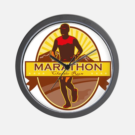 Marathon Classic Run Retro Wall Clock