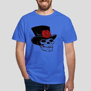 Skull With Red Rose Dark T-Shirt