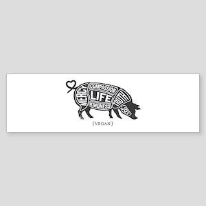 Pig-Gray Bumper Sticker