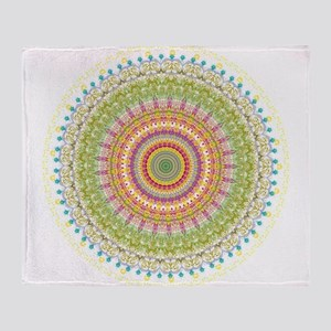 Bright Blessings Mandala Throw Blanket