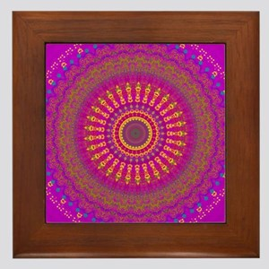 Bright Blessings Mandala Framed Tile
