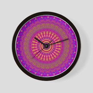 Bright Blessings Mandala Wall Clock