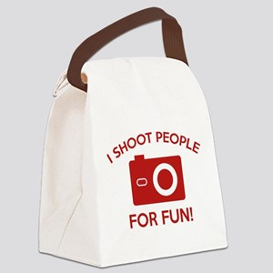 I Shoot People For Fun Canvas Lunch Bag
