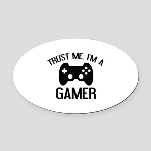 Trust Me, I'm A Gamer Oval Car Magnet