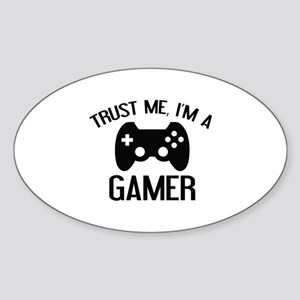 Trust Me, I'm A Gamer Sticker (Oval)
