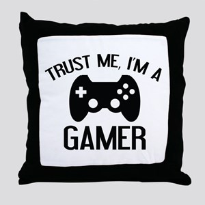 Trust Me, I'm A Gamer Throw Pillow