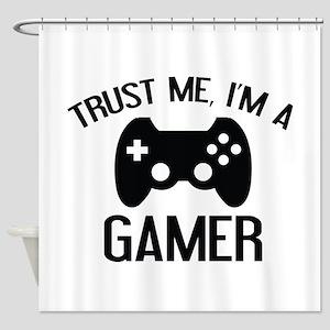 Trust Me, I'm A Gamer Shower Curtain