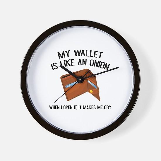 My Wallet Is Like An Onion Wall Clock