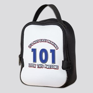 101 year old birthday designs Neoprene Lunch Bag