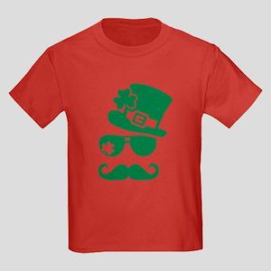 Irish sunglasses mustache Kids Dark T-Shirt