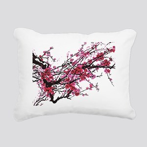 Chinese inspired Plum tr Rectangular Canvas Pillow