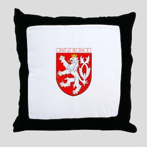 Czech Coat of Arms Throw Pillow