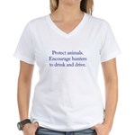Protect Animals Women's V-Neck T-Shirt