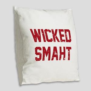 Wicked Smaht Burlap Throw Pillow