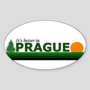 Its Better in Prague, Czech R Oval Sticker
