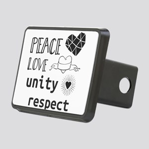 peace love unity respect Rectangular Hitch Cover