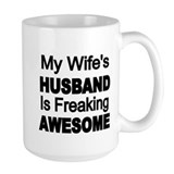 Awesome husband Large Mugs (15 oz)