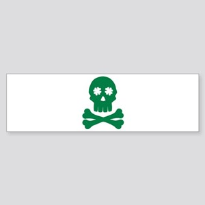 Irish shamrock skull Sticker (Bumper)
