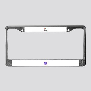 My Heart Friends Family and Uk License Plate Frame