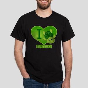 I Love Turtles Dark T-Shirt