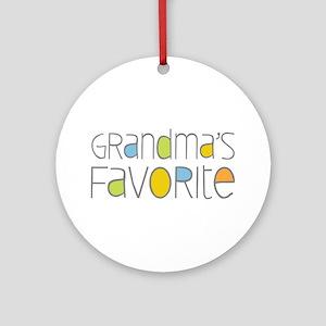 Grandmas Favorite Ornament (Round)