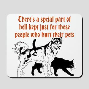 dont hurt pets Mousepad
