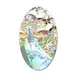 Abstract Wings of Angels 20x12 Oval Wall Decal